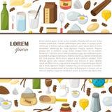 Bakgrund för ingredienser för vektortecknad film stekhet stock illustrationer