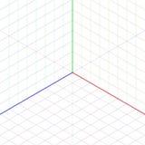 Bakgrund för isometrisk projektion Royaltyfri Bild