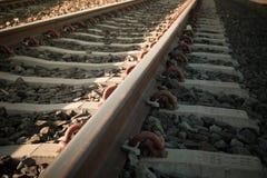 Bakgrund för järnvägspår Arkivbild