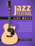 Bakgrund för jazzfestivalmusik Royaltyfria Bilder
