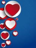 Bakgrund för jeans för valentindaghjärta vektor illustrationer