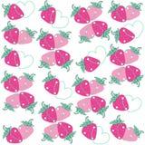 Bakgrund för jordgubbehjärtavektor Fotografering för Bildbyråer