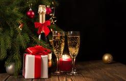 Bakgrund för jul eller nytt år royaltyfria bilder