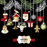 Bakgrund för jul och för nytt år Arkivbild