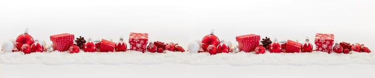 Bakgrund för julbaner Royaltyfri Bild