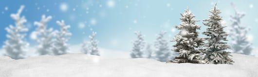 Bakgrund för julbanerpanorama arkivfoton