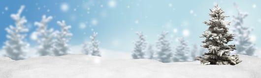 Bakgrund för julbanerpanorama royaltyfri fotografi