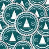 Bakgrund för julgranappliquevektor. stock illustrationer