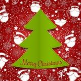 Bakgrund för julgranappliquevektor Arkivbilder