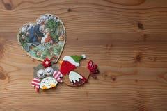 Bakgrund för julhälsningskort Royaltyfri Foto