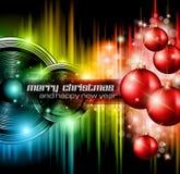 Bakgrund för julklubbadeltagare Royaltyfri Bild