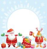 Bakgrund för julkort Arkivbilder