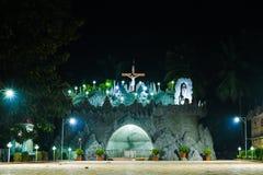 Bakgrund för julkyrkaIndien religiös jesus tempel arkivfoto