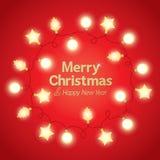 Bakgrund för julljus Royaltyfri Fotografi