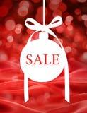 Bakgrund för julSale prydnad royaltyfri bild