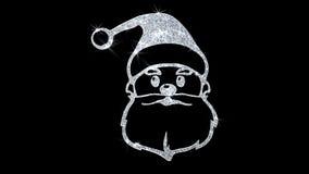 Bakgrund för julSanta Claus Mask Element Blinking Icon partiklar royaltyfri illustrationer