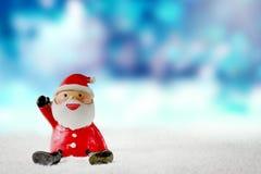 Bakgrund för julSanta Claus tecknad film Royaltyfria Foton