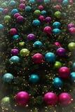 Bakgrund för julstruntsaklodlinje Arkivbild