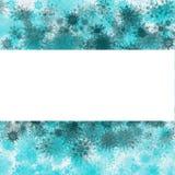 Bakgrund för julvattenfärgsnöflingor med stället för din text stock illustrationer