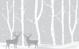 Bakgrund för julvinterlandskap vektor illustrationer