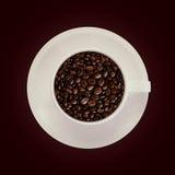 Bakgrund för kaffekopp Royaltyfria Foton