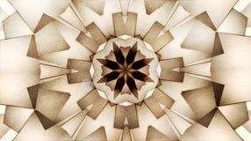 Bakgrund för kalejdoskop för abstrakt tappningrörelse symmetrisk med bokeh i varma signaler royaltyfri illustrationer