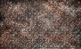 Bakgrund för keramiska tegelplattor för Grungetappning arkivfoto