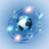 Bakgrund för kommunikationsbegreppsteknologi Royaltyfri Fotografi
