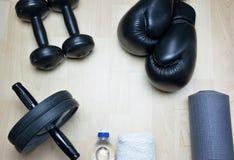 Bakgrund för kondition för sparkboxning Arkivbilder