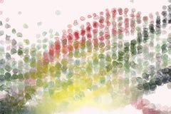 Bakgrund för konst för abstrakt rundad modell för former för färg geometrisk generativ Illustration, stil, yttersida & räkning stock illustrationer