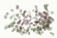 Bakgrund för konst för abstrakt rundad modell för former för färg geometrisk generativ Yttersida, räkning, design & stil stock illustrationer