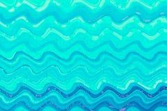 Bakgrund för konst för blå vågvattenfärgmålarfärg digital Royaltyfri Bild