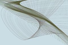 Bakgrund för konst för färgabstrakt begrepplinje & för geometrisk modell för kurva generativ Effekt, yttersida, vektor & räkning royaltyfri illustrationer