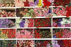 Bakgrund för konstgjorda blommor, konstgjorda blommor Royaltyfri Bild
