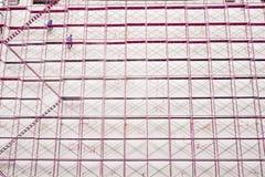 Bakgrund för konstruktionsplats och för byggnadsstruktur Arkivbild