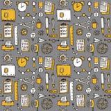 Bakgrund för kontor för affärsklotter sömlös, vektor Arkivbild