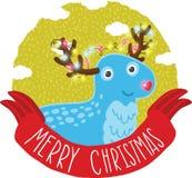 Bakgrund för kort för julhjorthälsning Royaltyfri Foto