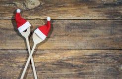 Bakgrund för kort för julmatmeny Fotografering för Bildbyråer