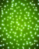 Bakgrund för kort för glad jul och för lyckligt nytt år med realistiska mousserande ljus vektor stock illustrationer