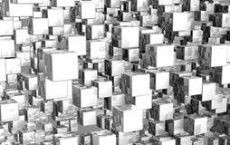 bakgrund för kub 3D Arkivfoto
