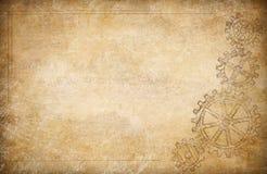 Bakgrund för kugghjul- och kuggetappningpapper stock illustrationer