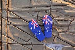 Bakgrund för läderremmar för australierAustralien flagga royaltyfria bilder