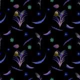 Bakgrund för lösa blommor seamless modell Bakgrundsvattenfärg för lösa blommor stock illustrationer