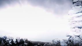 Bakgrund för landskap för blixtstormfantasi lager videofilmer