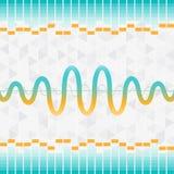 Bakgrund för ljud- och ljudsignalvågutjämnare Royaltyfri Bild