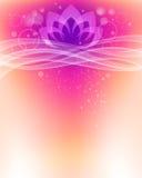 Bakgrund för Lotus blomma stock illustrationer