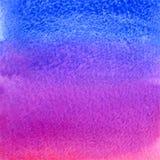 Bakgrund för lutning för för vektorvattenfärgrosa färger och blått Royaltyfri Foto