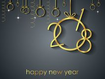 2018 bakgrund för lyckligt nytt år Royaltyfria Foton