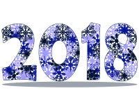 Bakgrund 2018 för lyckligt nytt år stock illustrationer