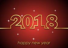 2018 bakgrund för lyckligt nytt år Fotografering för Bildbyråer